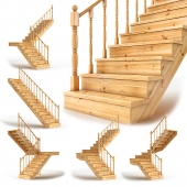 Set of wooden stairs