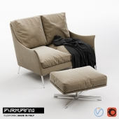 Flexform Boss Sofa & Pouf