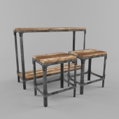 Dinning table with stool