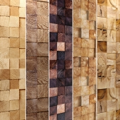 Wooden mosaic. Collection.