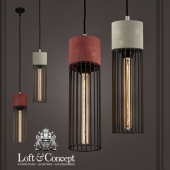 Подвесной светильник Cement Droplight Pendant Light cylinder