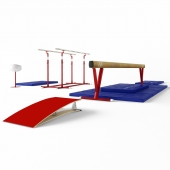 Beam gymnastic and parallel bars