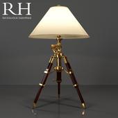 RH ROYAL MARINE TRIPOD TABLE LAMP