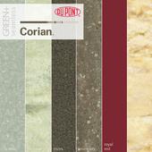 Dupont Corian Kitchen Countertops Green +