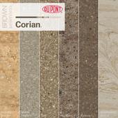 Dupont Corian Kitchen Countertops Brown 1
