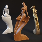 """Sculpture of a naked woman """"Nymph"""""""