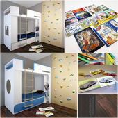Baby bed with decor