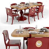 Dining table and chairs of the MARCHETTI factory