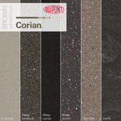Dupont Corian Kitchen Countertops Brown 3