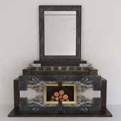 Brownish Marble Fireplace