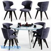 Varaschin KLOE Chair and LINK Table 02