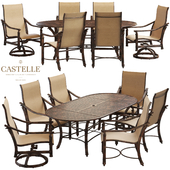 Dining table and chairs from the collection Coco Isle by Castelle