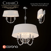 Chandelier and sconce Chiaro Palermo 386010206 386021302