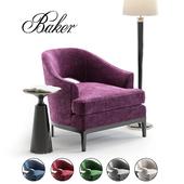 Baker Carnelian Lounge Chair