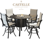 Bar table and chairs from the collection Coco Isle by Castelle