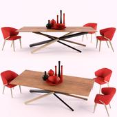 Стол и стул bross W3130, Nova