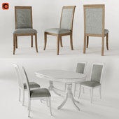 """The table of Bally-2 (""""Stella"""") and the chair of Coventry (Dantonehome)"""
