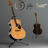 Acoustic guitar Samick Greg Bennet design J-8 and rack