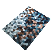 Hexagon colored Rug
