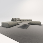 Sofa and table factory Poliform Bolton