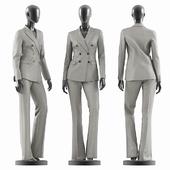Woman Gray Suit