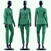 Woman Green Suit