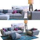 Nicoline Cooper sofa with armchair