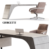 Giorgetti Tenet Table and Jab Bond Chair