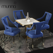 Munna Design dining set with CORSET Chair, Table and Decor