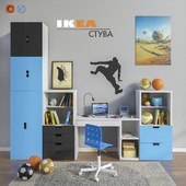 Modular furniture and accessories for a children's room IKEA set 1