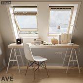 AVE mansard VELUX windows set