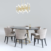 Table Rooma Design, Meurice rectangle chandelier