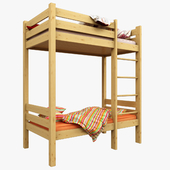 Baby cot with loft