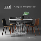 CB2 Compass dining table set