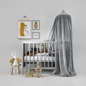 Cot with canopy