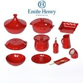 Set of ceramic dishes Emile Henry