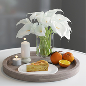 Calla Lily with tray