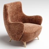 Vladimir Kagan High Back Barrel Chair