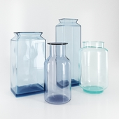 Set of glass vases