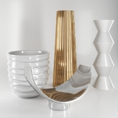 Decorative set vases