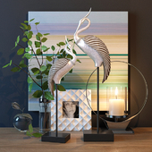 Decorative set with birds
