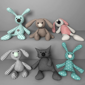 Set of soft toys