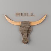 Bull Head Wall Decor