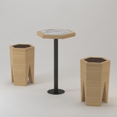 Hexagonal Seat And Table