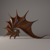 "Wooden sculpture ""Shell"""
