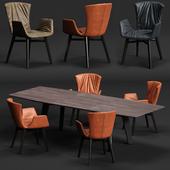 DRAENERT DEXTER Armchair and FONTANA Table
