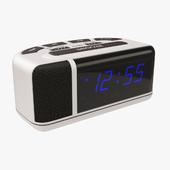 Acctim Excelsior Blue LED Mains Electric Bold Bedside Alarm Clock
