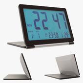 Pingenaneer Folding LCD Display Digital Travel Clock Desk