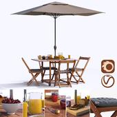 Set of garden furniture