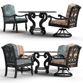Tommy Bahama Outdoor Table and Chair Set 01